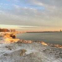 Lakefront at sunrise
